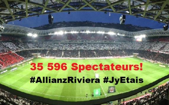 record attendance for nice v st etienne 35 596 spectators allianz riviera. Black Bedroom Furniture Sets. Home Design Ideas